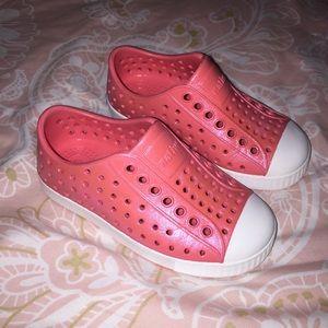 Native shoes Jefferson sparkle shimmer pink C8 8